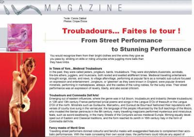 Troubadours – In Magazine
