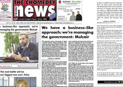 Environment Minister Thomas Mulcair interview