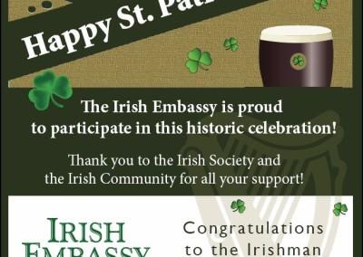 Irish Embassy flyers