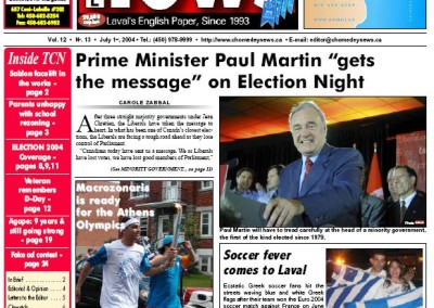 Election Night – Prime Minister Paul Martin