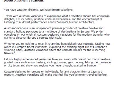 Austrian Vacations